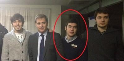 Juan Cremades en la derecha de Alberto Fernández Díaz, presidente del grupo popular en ayto de Bcn