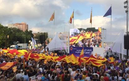 Éxito del acto de Sociedad Civil Catalana en Tarragona, a pesar del ninguneo mediático de TV3