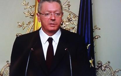"""Alberto Ruiz Gallardón dimite, abandona definitivamente sus """"responsabilidades"""" en el PP y su escaño"""