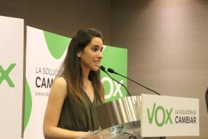Ariadna Hernández Torrijos, Portavoz de VOX Bcn. Foto Joseph / lasvocesdelpueblo