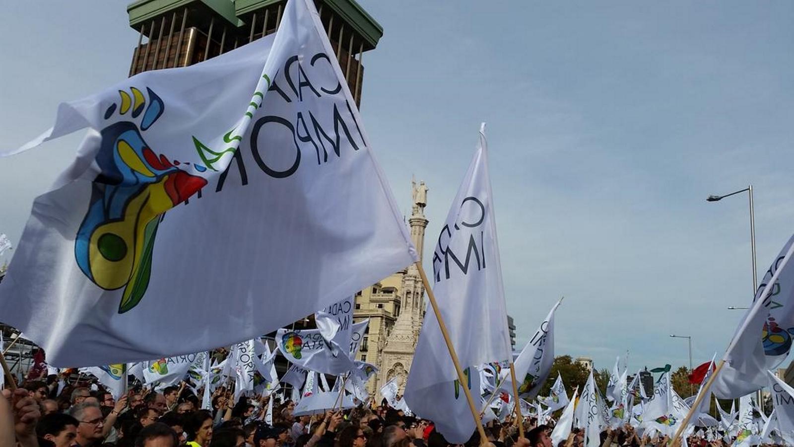 FOTOGRAFÍA. MADRID (ESPAÑA), 22.11.2014. Miles de peersonas protestan en las calles de Madrid a favor d ela vida. Ñ Pueblo