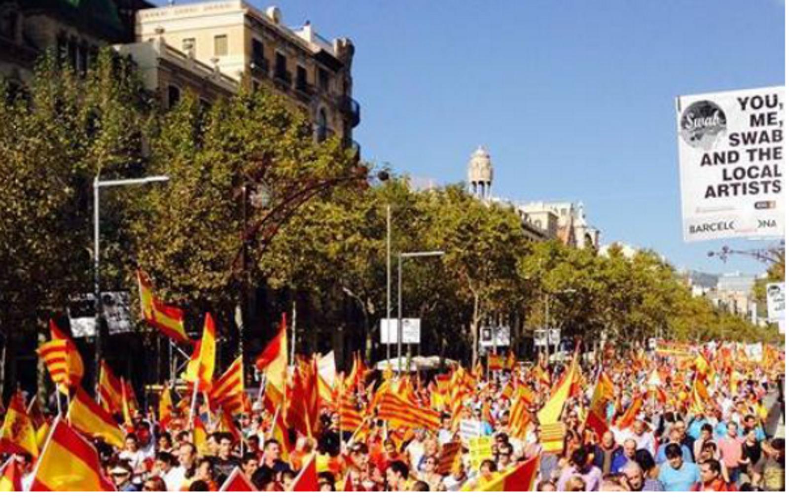 """La plataforma unitaria convocante del 12-O 2014 considera un """"éxito"""" la manifestación """"España, la nación de todos"""""""