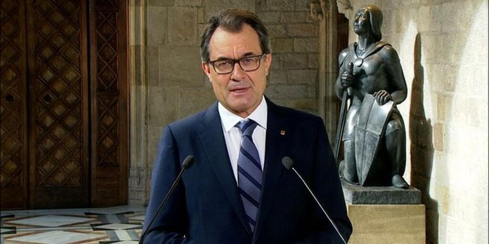 """Artur Mas: """"Habrá referéndum el 9N. Habrá locales abiertos, papeletas y urnas el 9-N. Podrán votar los mayores de 16 años"""""""