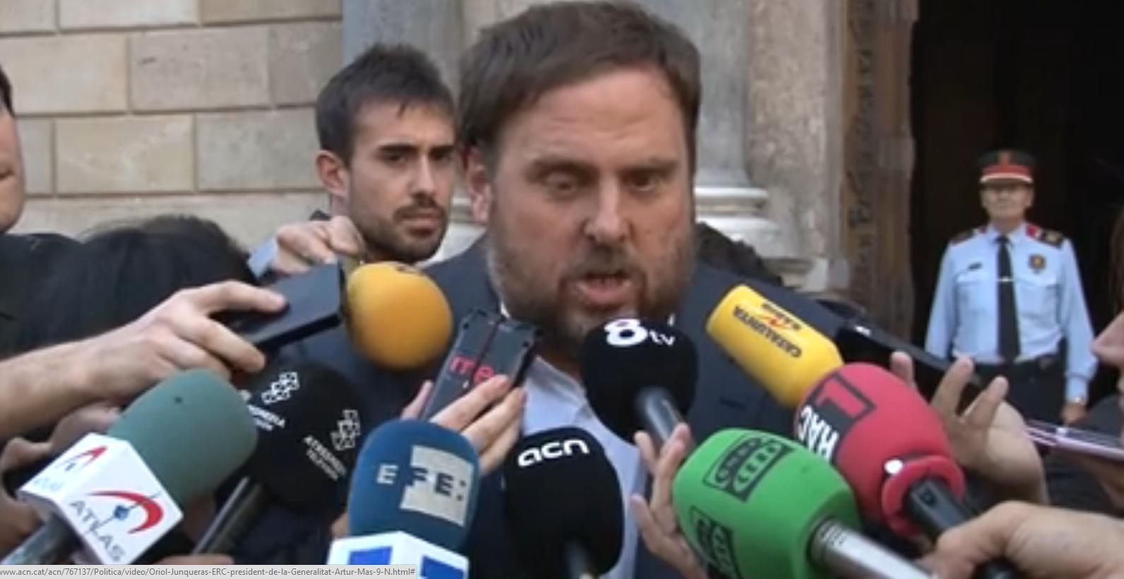Artur Mas y Oriol Junqueras han pactado esta tarde  para celebrar juntos  el nuevo referéndum del 9-N