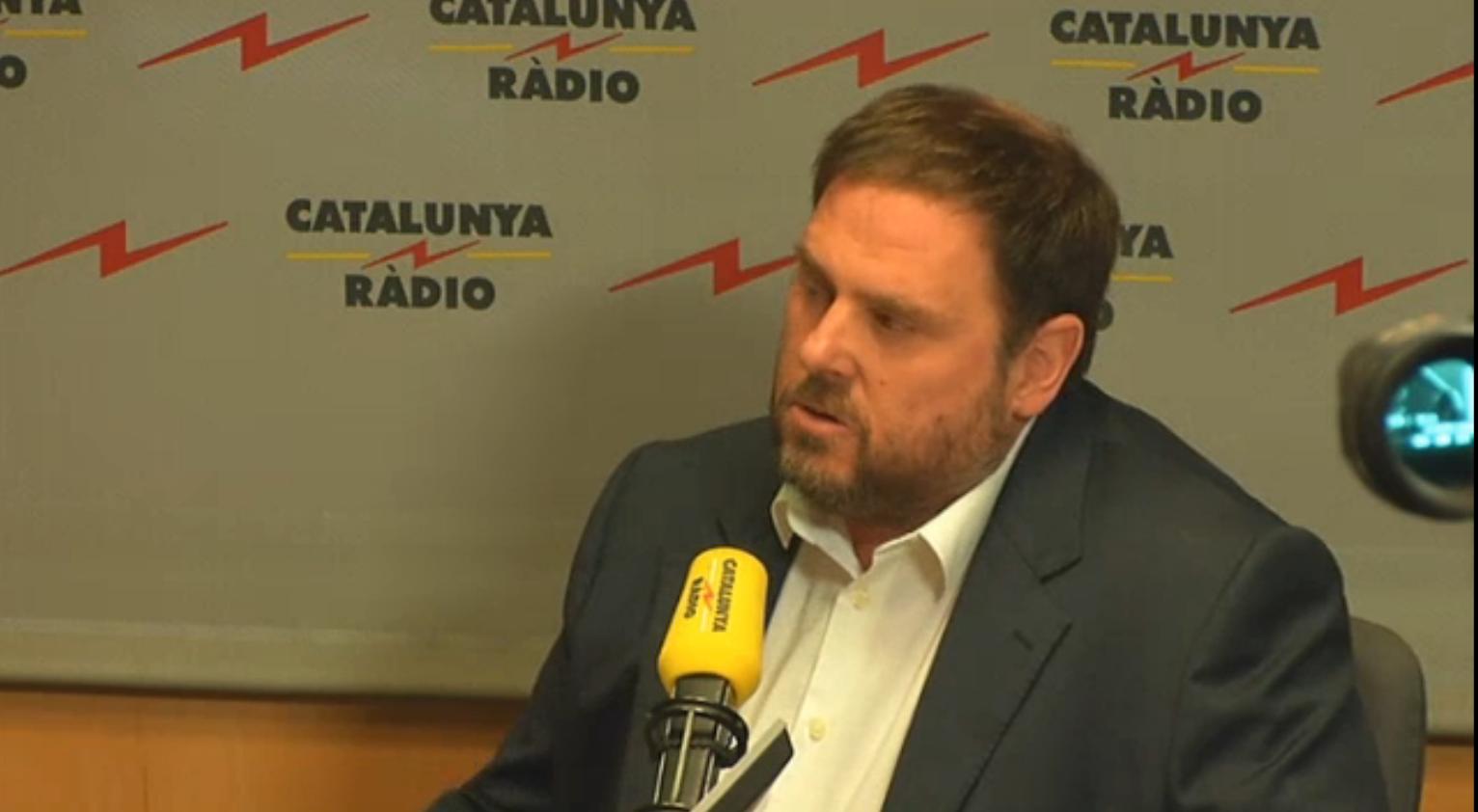 """Oriol Junqueras llorando en Cataluña Radio pidiendo """"elecciones ya para proclamar la independencia"""""""