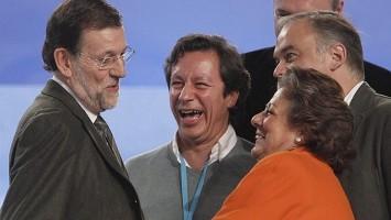 Carlos Floriano - Rita Barberá - Esteban González Pons - Mariano Rajoy Brey muertos de risas
