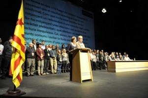 Carme Forcadell presenta su hoja de ruta, declaración de Cornellá, de candidatura  separatista transversal