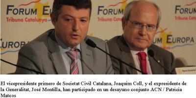 Joaquim Coll y José Montilla