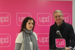 Ramon de Veciana candidato UPyD Presidencia de la generalidad y Montse Tonda candidata UPyD al ayuntamiento de barcelona