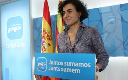 """Discurso ultraseparatista del PP: solo a catalanes """"la legitimidad de hablar sobre Cataluña"""", Dolors Montserrat"""