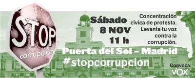 vox convoca contra la corrupción