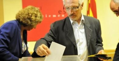 Magistrado Santiago Vidal Votando al Golpe del 9N