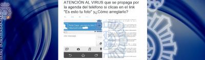 Policía alerta de un potente virus, con el gancho ¿es esto tu foto que ataca a teléfonos móviles ..