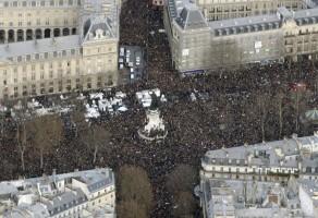 Plaza de la República durante la manifestación / Foto AFP