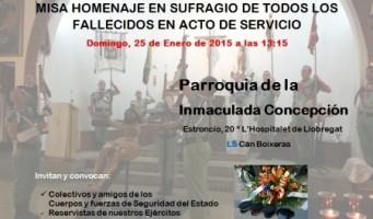 Amigos y colectivos convocan un acto en homenaje a Fuerzas y Cuerpos de Seguridad fallecidos en acto de servicio.