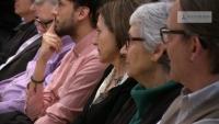 De la Dcha a la Izda.: Pte. de AMI, presidenta de Ómnium Cultural y presidenta de Asamblea Nacional Catalana