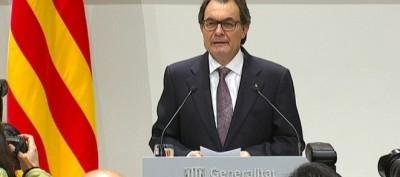 Artur Mas convocando las elecciones con carácter plebiscitario
