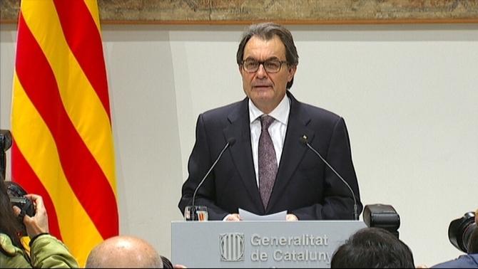 """Artur Mas: """"Ha habido un acuerdo para convocar la población catalana a las urnas este año"""", después el verano"""