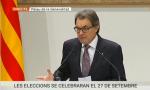 Artur Mas durante la rueda de prensa de esta noche
