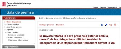 Artur Mas aprovechó de la Navidad para dotar instrumentos de Estado Propio a Cataluña en la UE y en el mundo