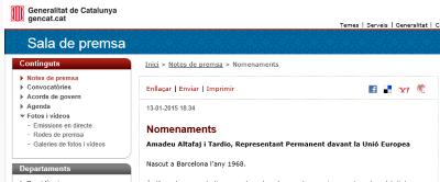 Artur Mas nombra al separatista Amadeu Altafaj ministro de asuntos exteriores de Cataluña....