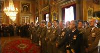 Autoridades militares y civiles durante el acto de la Pascua Militar en Cataluña