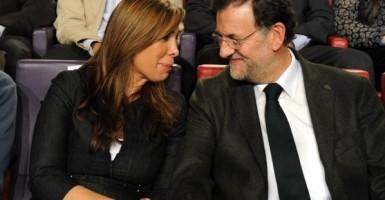 Alicia Sánchez Camacho con su presidente, Mariano Rajoy