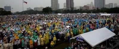 El Papa Francisco durante la Misa ante, 7 millones de fieles