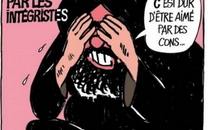 """""""Es duro ser amado por idiotas"""" fanáticos, lamentaba Mahoma (SWS) en una viñeta de Charlie Hebdo"""