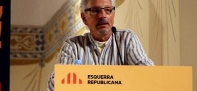 El magistrado separatista, Santiago Vidal, portavoz de jueces redactores de la constitución separatista, en un acto de ERC