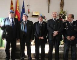 Miembros del Cuerpo de Somaten España posando al final del acto / Foto  Joseph. A.