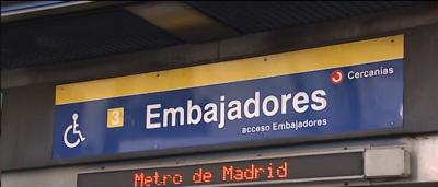 Estación de embajadores de Madrid