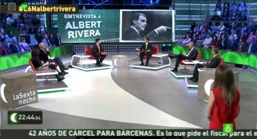 Líder de Ciudadanos, Albert Rivera, durante su entrevista anoche