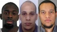Los tres asesinos terroristas de París. de Izda a la Dcha. Amedy Coulibaly, y los hermanos Chérif y Said Kouachi