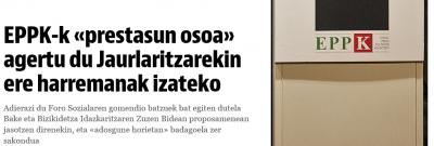 Texto del comunicado de asesinos de (ETA-EPPK) no tenemos por qué arrepentirnos por haber asesinado a inocentes..