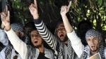 Ejercito yihadista del EIIL jurando al nombre de Alá