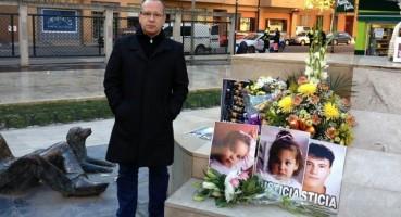 Presidente de (VCT), Francisco José Alcaraz, en un homenaje a víctimas de los asesinos Terroristas