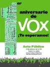 Campaña del acto, foto Vox