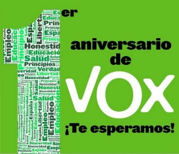 VOX celebra su primer aniversario y anuncia este sábado su proyecto político 2015 para España