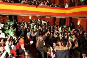 Simpatizantes de VOX durante el acto en el Teatro La Latina, Foto VOX