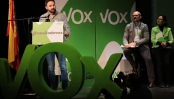 Santiago Abascal Conde, líder de Vox, durante el acto del primer aniversario de VOX / Foto archivo