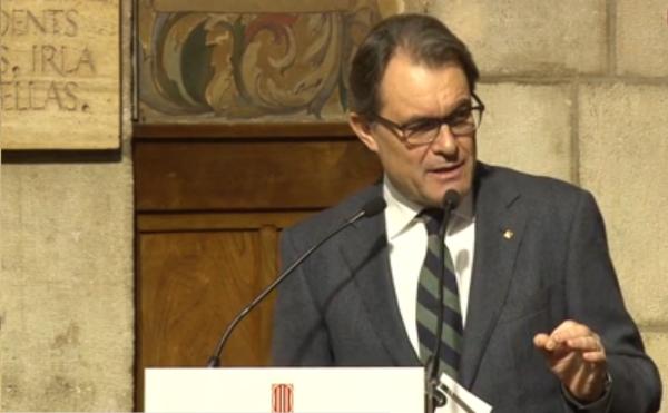 """Artur Mas señala a España como """"el agresor de Cataluña"""" durante décadas para prohibirle disfrutar de su libertad"""