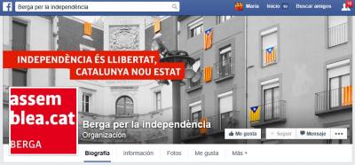 Página de Facebook de la sectorial de ANC BergaPágina de Facebook de la sectorial de ANC BergaPágina de Facebook de la sectorial de ANC Berga donde Lluís Ballús Planas publicó su comunicado