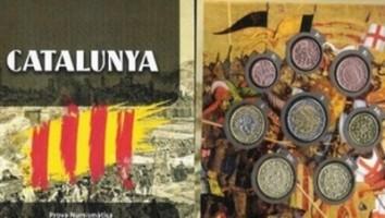 Monedas, del euro, falsificadas por el Gobierno separatista del presunto delincuente Artur Mas Gavarró / Foto TV3