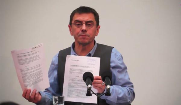 """Monedero desarticula la campaña de """"ataques"""" del PP contra Podemos con pruebas y datos y, denuncia Montoro"""