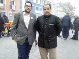 De la Izda. a la Dcha. Juan Carlos Barbé, miembro de la Gestora de VOX-Gerona y el doctor Ernesto Torres, exconcejal del PP Catalaán