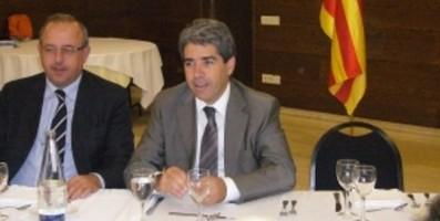 Antoni Casas y el Portavoz del gobierno separatista, Francesc Homs / Foto CIU