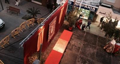 El escenario y el decorado del acto 'La CRIDÀ', foto proporcionada por CCV