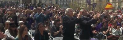 Pablo Iglesias Viva las Fuerzas Armadas, Viva la Guardia Civil, Viva los agentes de Policía de España.
