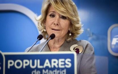 Admitida a trámite la querella de Podemos contra Esperanza Aguirre por delitos de injurias y calumnias
